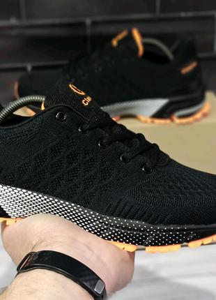 Мужские черные текстильные кроссовки акция не дорого чёрные