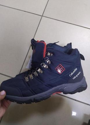 Мужские термо ботинки кроссовки синие
