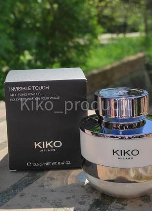 Пудра для обличчя kiko invisible touch face fixing powder