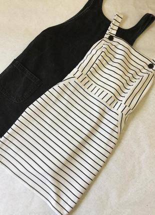 Платье сарафан в полоску miss selfridge размер 12/14