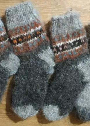 Шкарпетки (носки), рукавиці шерстяні ручної в'язки