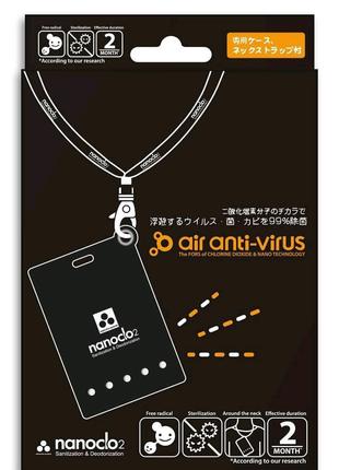 Японский блокатор вирусов, аллергии и неприятных запахов NANOCLO2