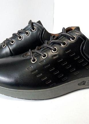 Мужские кроссовки сlassic  черный, кожаные, классическая обувь...