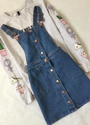 Сарафан джинсовый new look размер 8