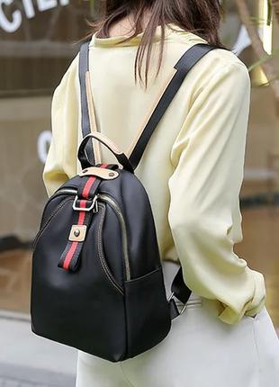 Женский рюкзак из нейлона. женский портфель. женская сумка черная