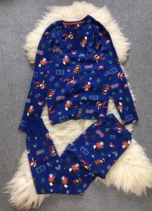 Домашняя пижама костюм набор новогодняя хлопок принт мальчика ...