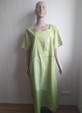 Хлопковое платье италия размер 50-52