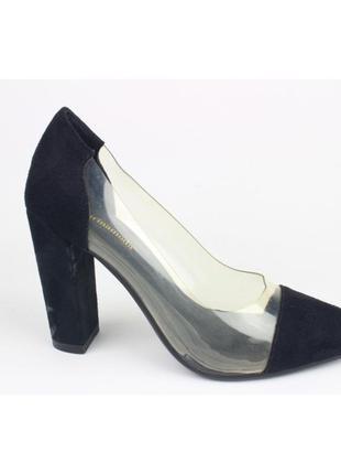 Туфли силиконовые вставки