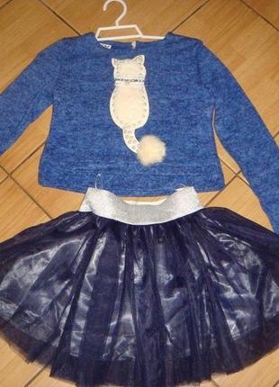 Нарядный костюм на девочку с пышной юбкой, новый,в наличии,раз...
