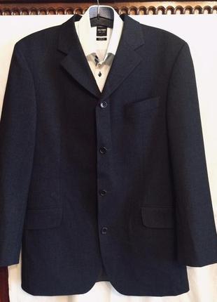 Пиджак шерсть от hugo boss