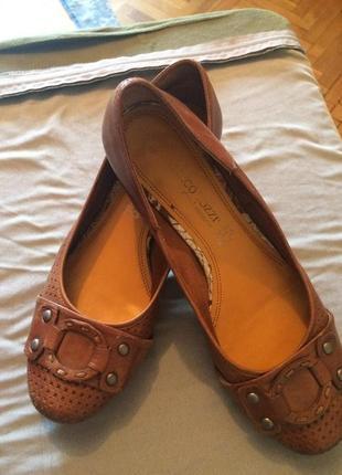 Туфли кожа с перфорацией от marco tozzi