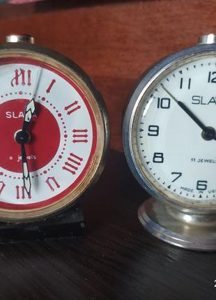 Часы будильник настольные SLAVA 11 JEWELS