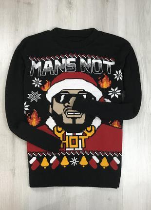 F7 свитер вязаный серый новогодний рождественский праздничный ...