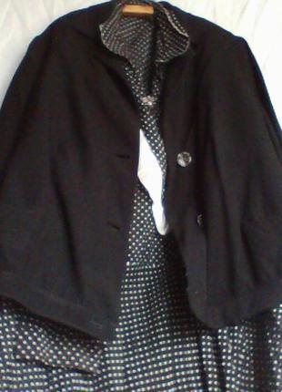 Костюм женский винтажный платье с пиджаком пр-во СССР