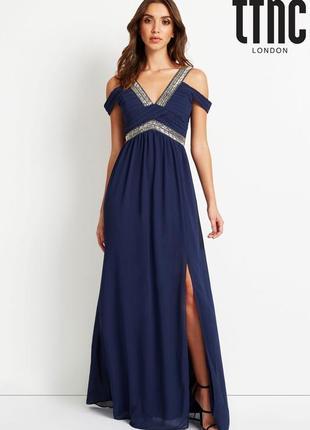 Шикарное платье шифон,от британского бренда tfnc london