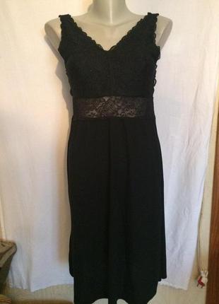 Стильное платье - майка,трикотаж с кружевом, от c&a