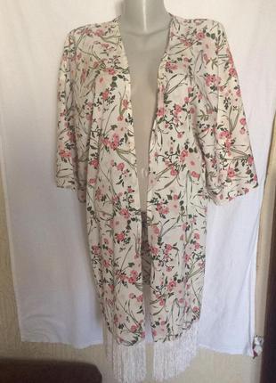 Стильный халат,цветочный принт от бреда c&a,линия одежды ckh,а...