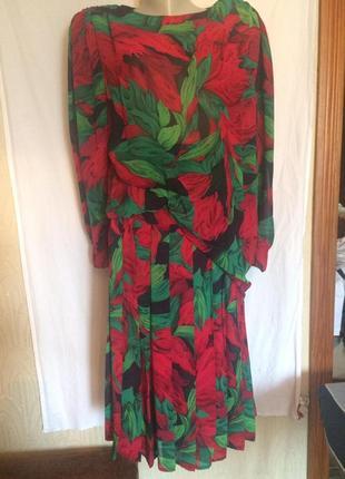 Яркий костюм,юбка и блузка,большой размер из германии