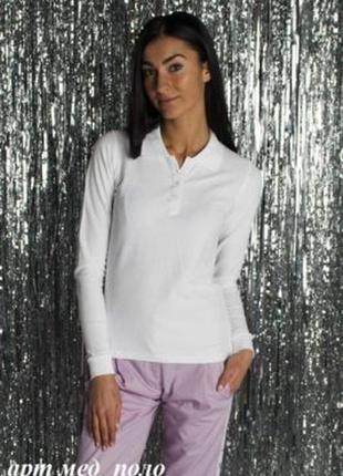 Белая блузка,кофточка,поло ,школа,офис от бренда lunde