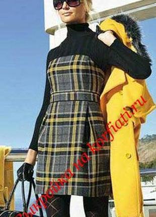 Платье клетка,школа ,офис,на каждый день,от бренда mng