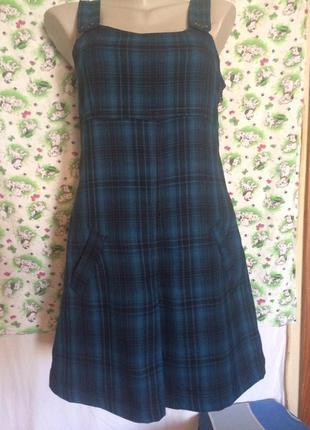 Обалденное платье,сарафан,школа,офис от бренда zara m