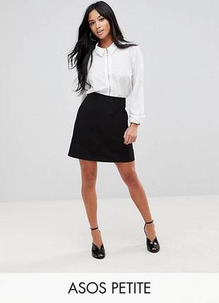 Стильная трикотажная юбка,черная,от бренда c&a