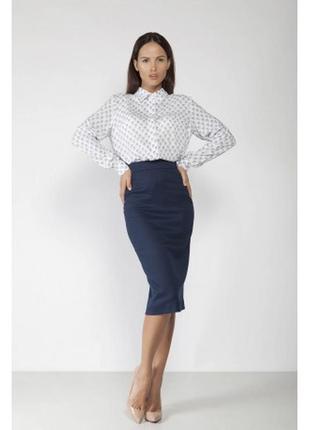 Синяя юбка-карандаш,шерсть,от бренда simon jersey