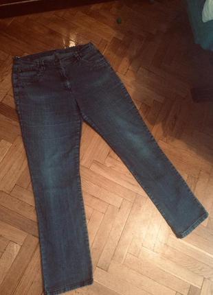 Синие джинсы высокая талия от бренда c&a
