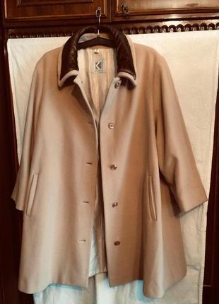 Шикарное пальто,шерсть+кашемир,от немецкого бренда kohler&kbenzer