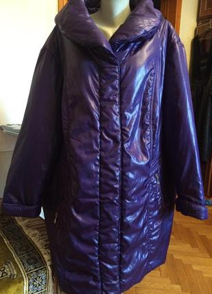 Крутой пуховик,куртка одеяло от mia moda,супер батал,сезонная ...
