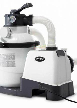 Песочный фильтр насос Intex 26644 для очистки воды в бассейнах
