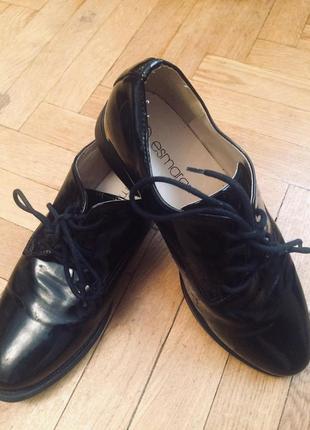 Туфли,оксфорды,кожа,от esmara