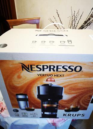 Кофемашина Nespresso Krups Vertuo Next. Кофе. Кофе в капсулах.