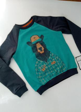 Кофта свитер реглан для мальчика 134см