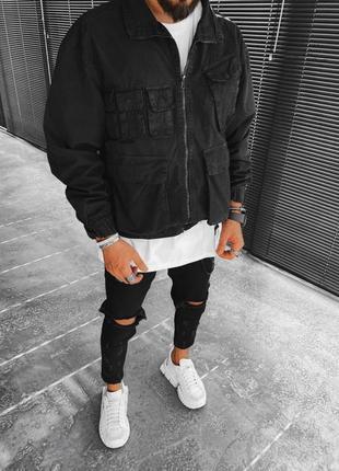 Стильная мужская куртка оверсайз мужская одежда осень весна лето