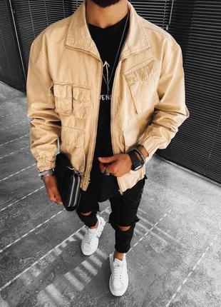 Мужская стильная куртка оверсайз