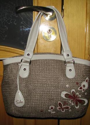 Классная сумка tula  на лето кожа