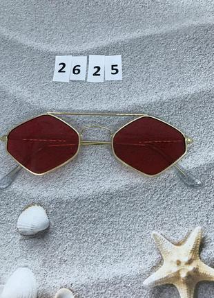 Стильні червоні окуляри к. 2625