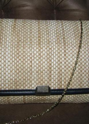 Летняя сумка из соломки