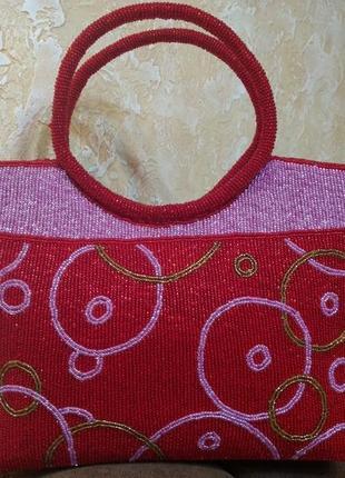 Эксклюзивная сумка вышивка бисером