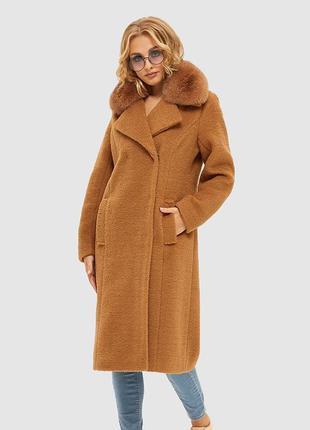 Шикарное теплое кэмэл рыжее пальто тэдди