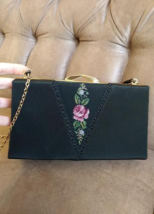 Винтаж! эксклюзивная элегантная сумка с вышивкой