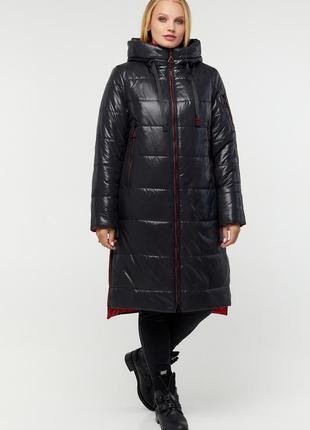 Зимний черный пуховик куртка большие размеры