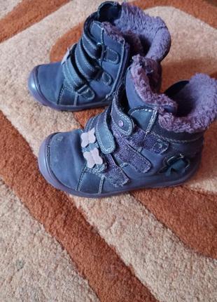 Ботинки девочка 24 размер носок чуть счесан