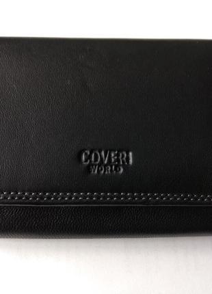 Новый шикарный вместительный кошелек coveri кожа