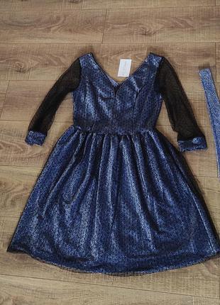 Красивое платье сверкающее 44.46-48р.