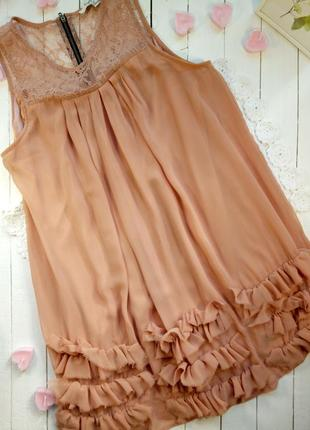 Платье беж с кружевом