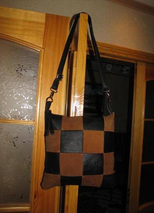 Новая кожаная сумка на плечо