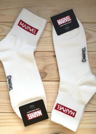 Носки мужские хлопковые с логотипом marvel, корея
