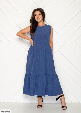 Платье в свободном стиле. расцветка в ассортименте. 50-56р